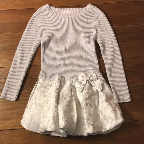 77e09bf21dc heirlooms Other - Silver holiday girls  sweater dress